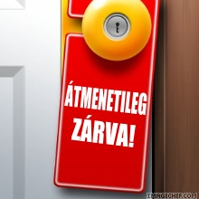 átmenetileg zárva - temporarily closed